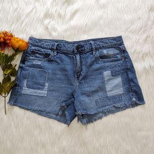 Gap Patchwork Jean Shorts Size 30